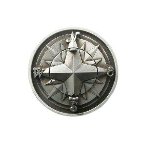 Belt Buckle - Antique Compass - 3D - Foldable - Buckle