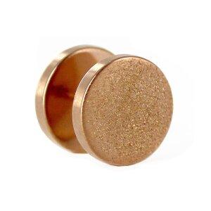 Rosegold Steel - Fake Plug -  Diamond Look