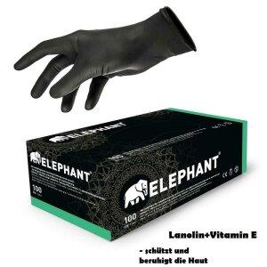 Handschuhe - mit Lanolind - schwarz - 100 Stk. - Elephant