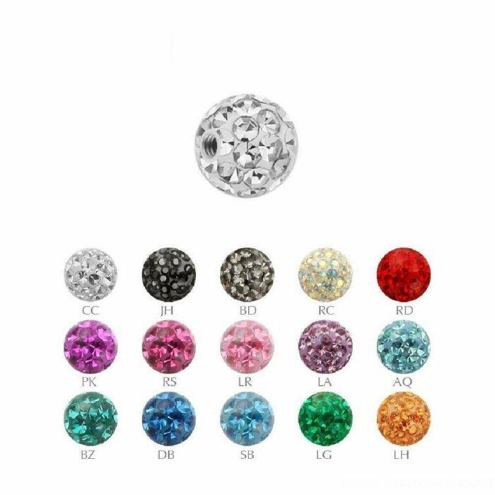 1,2 mm - 3 mm - CC - Crystal Clear/ Kristallklar - Epoxy - Schraubkugel - Kristall - einfarbig
