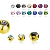 1,2 mm - 2,5 mm - CC - Crystal Clear/ Kristallklar - Gold...