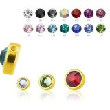 4 mm - CC - Crystal Clear/ Kristallklar - Gold Steel -...