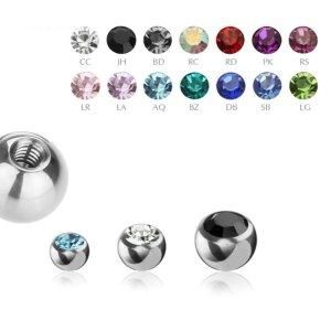 1,2 mm - 3 mm - CC - Crystal Clear/ Kristallklar - Stahl - Schraubkugel - Kristall