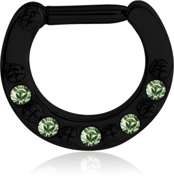 Black Steel - Septum Clicker - Kristall