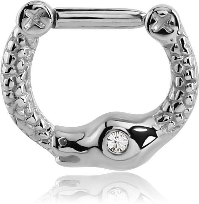 Stahl - Septum Clicker - Schlangen Design