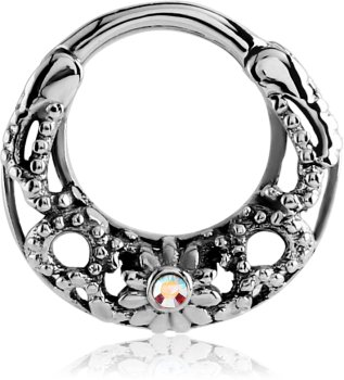 Stahl - Septum Clicker - Ornament Design