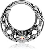 Steel - Septum Clicker - Ornament Design
