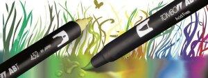 Basics 6er - Dual Brush Pen - Tombow