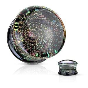 Glass - Plug - Multi Color Sparkle Galaxy