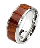 Steel - Finger Ring - Wood Pattern
