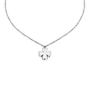 Edelstahl - Halskette - Kleeblatt Glücksbringer