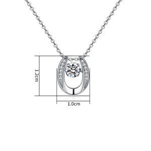 Edelstahl - Halskette - Hufeisen mit Kristallen