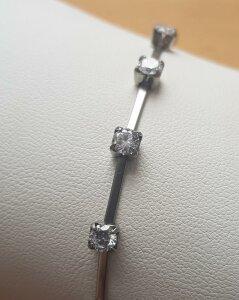 Edelstahl - Armkette - Stäbchen und Kristalle