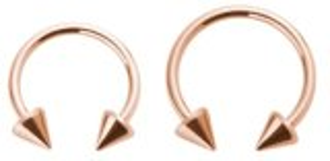 Rosegold Steel - Circular Barbel- Cones
