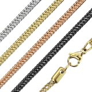 Edelstahl - Halskette - Weizenkette