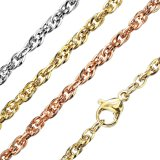 Stainless Steel - Chain Necklace - Double Round Chain