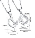 Stainless steel - necklace - Couple Set of gender symbols...