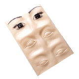 Übungshaut - Augenbrauen 3D - 27 x 15 cm