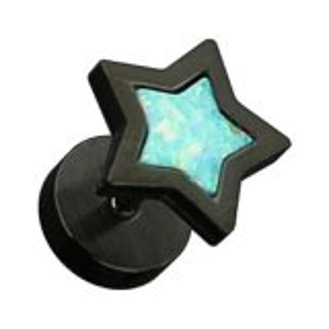 Black Steel - Fake Plug -  Opal Star