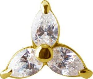 Solid Gold 18K - Labret - flower