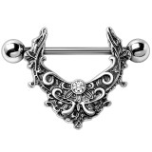 Steel - gothic tribal- Nipple Shield