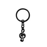 Black Steel - BCR ball closure ring - musical note