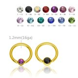8 mm - 3 mm - CC - Crystal Clear/ Kristallklar - Gold...