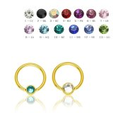 8 mm - 4 mm - CC - Crystal Clear/ Kristallklar - Gold...