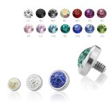 3,5 mm - LA- Light Amethyst - Titan - Dermal Anchor  -...