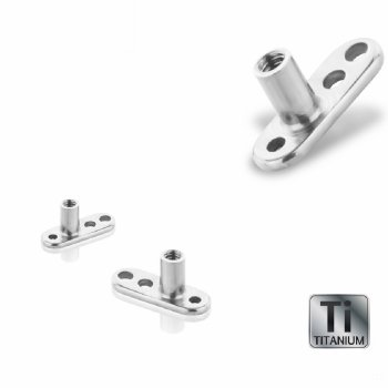 Titan - Dermal Anchor Base - 1,2 mm - 3 Loch - 2 mm